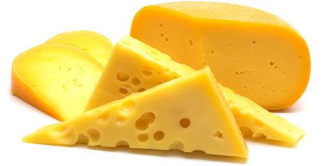 Pokrojony żółty ser
