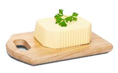 Masło na drewnianej desce