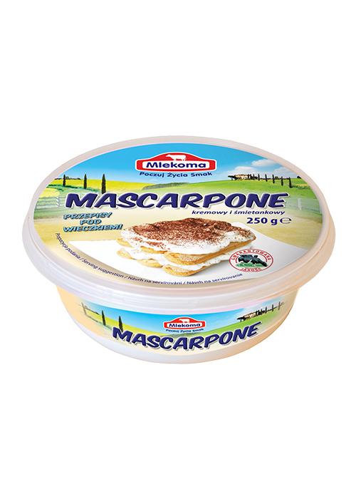 ser mascarpone mlekoma w kubku 250 g
