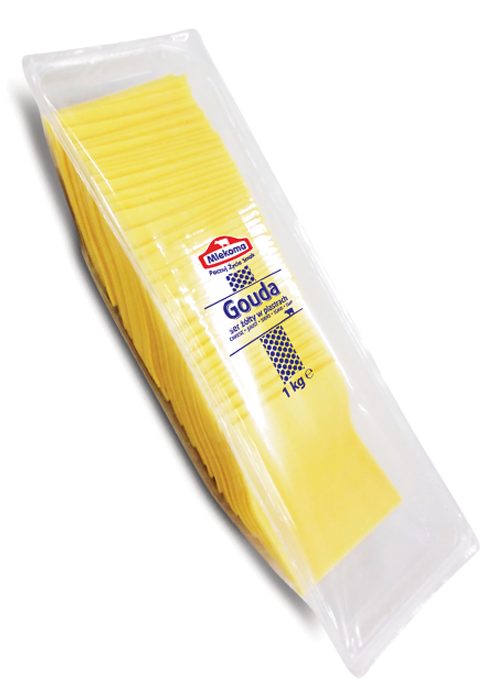 ser gouda mlekoma w plastrach 1 kg