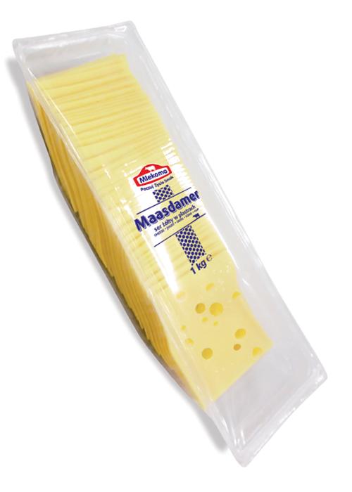 ser maasdamer mlekoma w plastrach 1 kg