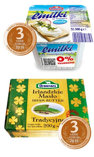 nagrody dla masła greeners i sera emilki
