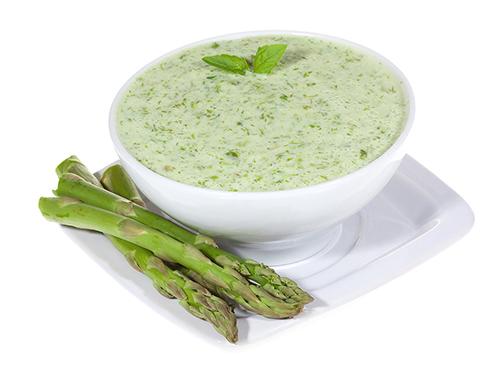 Zupa krem ze szparagów i mascarpone